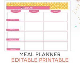 Printable Planner 2020 Home Management Binder Editable Letter