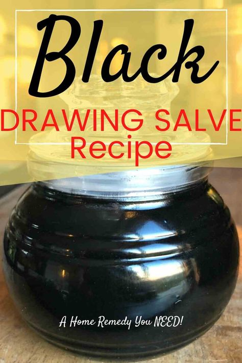 Ever wonder what black salve is or what it's used for? Find the answers and my favorite recipe! You can make this  Black Drawing Salve  easily and quickly. Trust me:  you need this in your medicine chest for first aid ! It's an amazing home remedy. Clear pics and directions. Makes a great gift for the outdoor person! #salve #black #herbal #howtomake #ideas #blacksalve #drawingsalve #blackdrawingsalve #herbalsalve #healingsalve #charcoal #remedy #splinter #skininfection #healingharvesthomestead