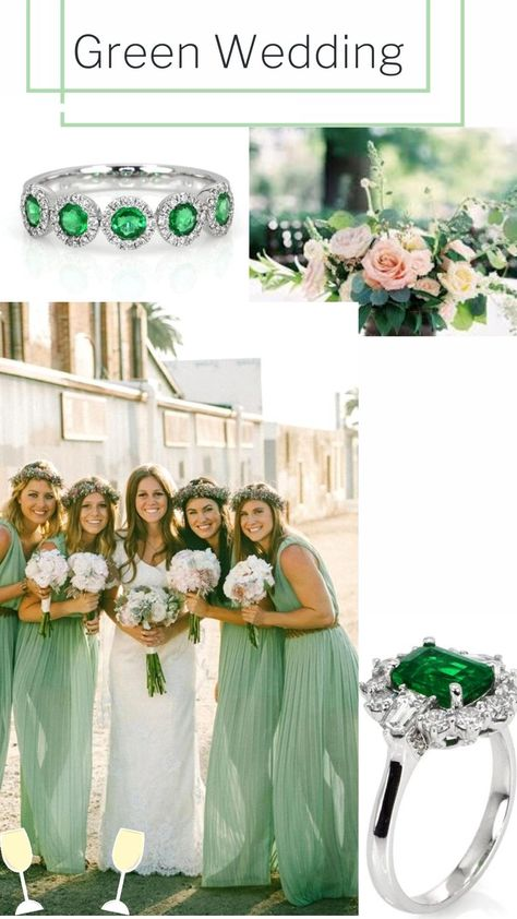Visit our website to see the latest emerald jewelry collection for your dream wedding. #emeraldlove #greenwedding #greenemeraldcollection #emeraldstones #customjewelery
