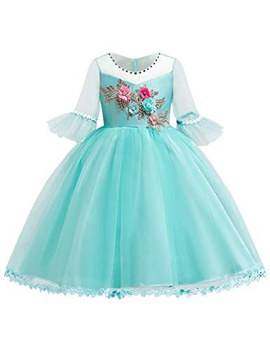 Blevonh Easter Dresses For Girls Children Boutique Dresses Round Neck 3 4 Bell Sleeve Satin Lace In 2020 With Images Dress For Girl Child Maxi Dress Cocktail Girls Easter Dresses