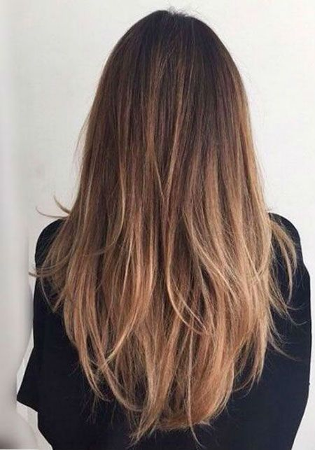 28 Ombre Straight Frisuren