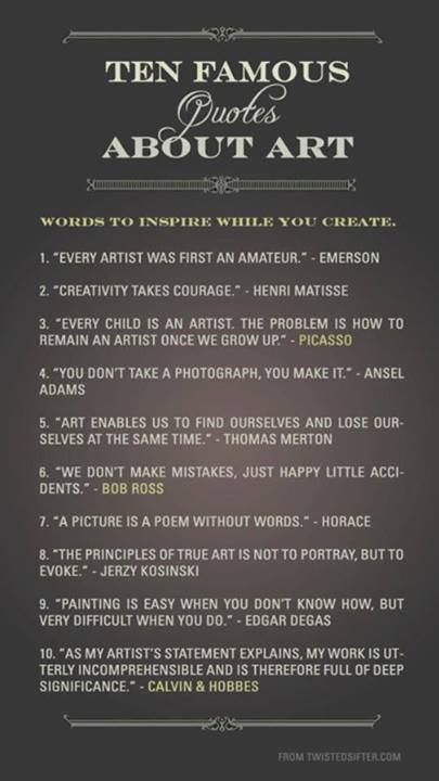 Famous Art Quotes Artist Quotes Art Quotes Creativity Quotes