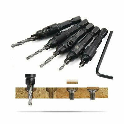 6pcs Drill Bit Set Countersink Hex Shank Pvc Plate Pilot Screw Holes Tool In 2020 Drill Bits Carbon Steel Drill Bit Sets