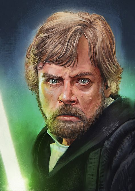 Luke Skywalker portrait by Mikołaj Birek