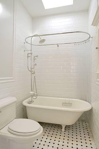 suzie xlart group vintage bathroom design with glossy white beveled subway tiles backsplash