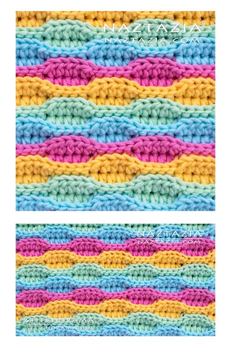 The crochet wave stitch is a pretty simple stitch pattern. It produces a neat wavy and 3-dimensional (3D) look to the fabric. I like using this stitch pattern in blankets, scarves, shawls, and handbags.