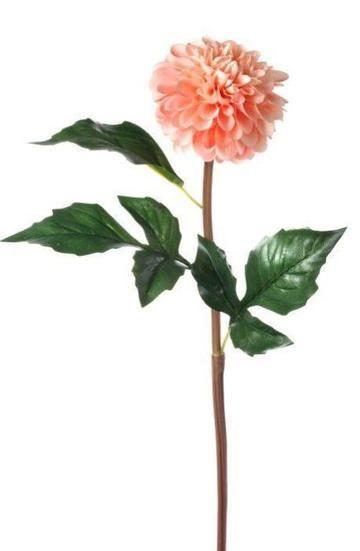 Coral Dahlia Silk Flower Stem Wedding Flowers Artificial Flowers And Plants Silk Flowers