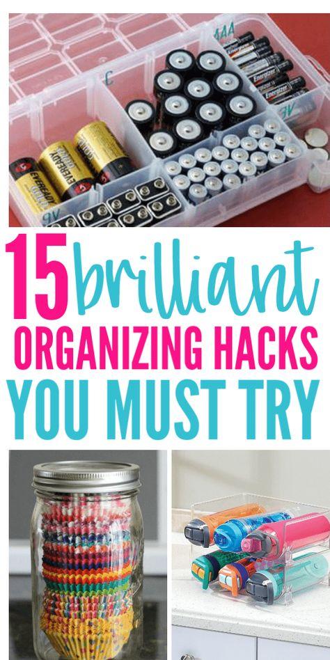 Organizing Hacks To Help You Get Organized