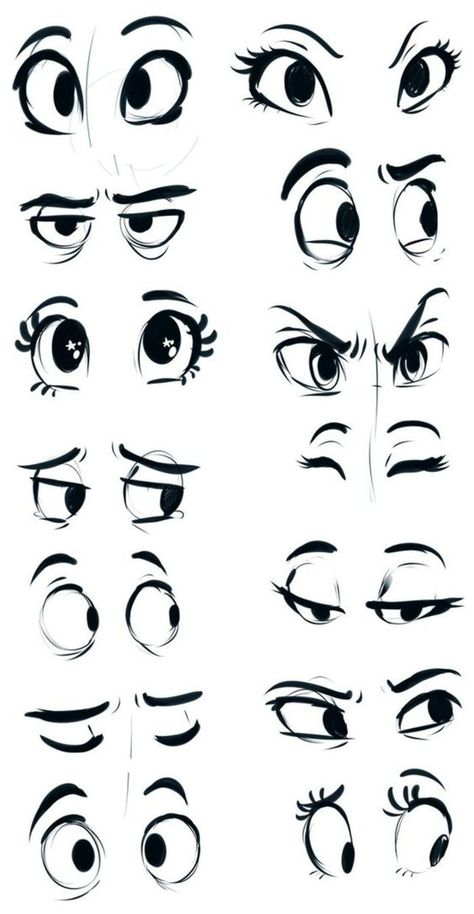 New disney art drawings sketches character design Ideas Cartoon Eyes Drawing, Drawing Eyes, Easy Cartoon Drawings, Disney Drawings, How To Draw Cartoons, Drawings Of Eyes, Cool Eye Drawings, Cute Cartoon Eyes, Eye Drawing Simple