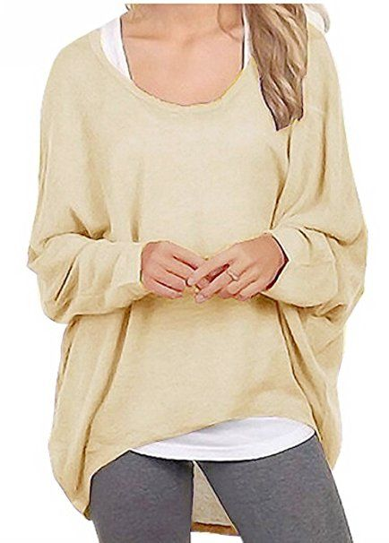 huge selection of fb729 c3e61 Meyison Damen Lose Asymmetrisch Sweatshirt Pullover Bluse ...