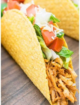 Replace Seasoning With Cumin Chili Powder Oregano For Even Healthier Dinner Chicken Taco Recipes Shredded Chicken Tacos Easy Shredded Chicken