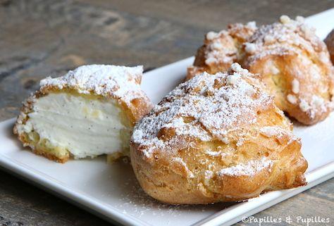 Chouquettes fourrées à la crème chantilly vanillée