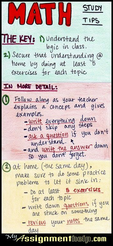 Exceptional study tips for mathematics. Maths made easy