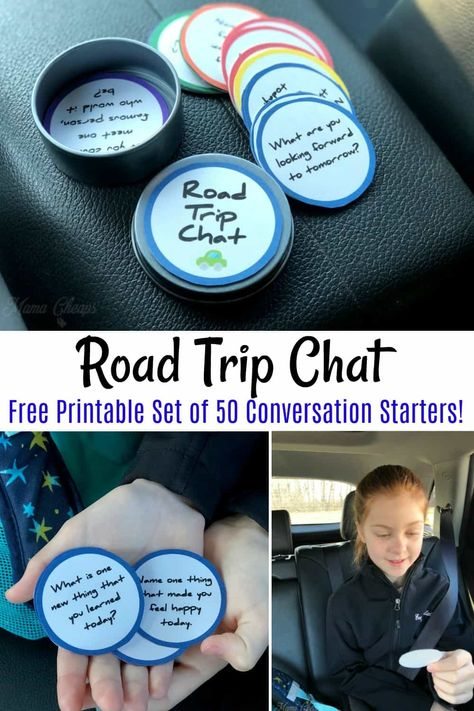 Printable Road Trip Game - 50 Conversation Starters | Mama Cheaps®