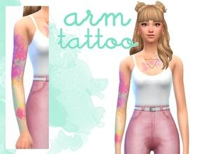 Image Result For Watercolor Tattoos Sims 4 Sims 4 Tattoos Sims