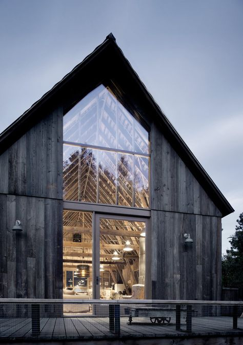 Old Barn Renovated and Converted into a Three-Bedroom Retreat - - Canyon Barn is a renovation project completed by Seattle-based MW Works Architecture. Old barn renovated and converted into a retreat.