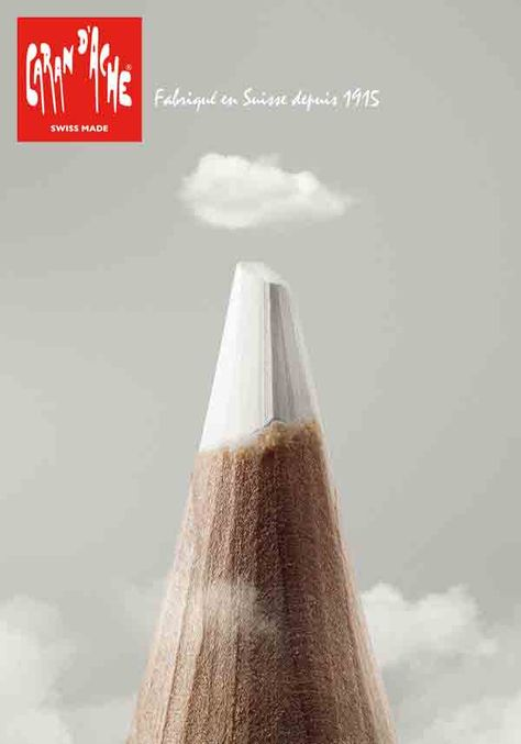 I like how they used the tip of the pencil to recreate the shape of a mountain - thus providing new persepctive
