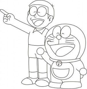 Learn To Draw Doraemon Easy Drawing Anime Characters For Children Drawn Simply And With Cute Cartoon Drawings Cartoon Coloring Pages Cartoon Drawings Sketches