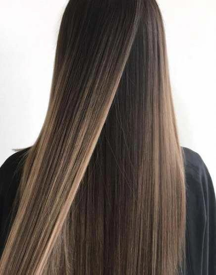 45 Trendy Hair Color Highlights Straight Dark Brown Hair Brownhairwithhighl Brown Hair Balayage Brown Hair With Blonde Highlights Brown Hair With Highlights