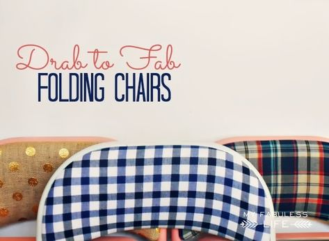 Drab to Fab Folding Chairs - Whipperberry
