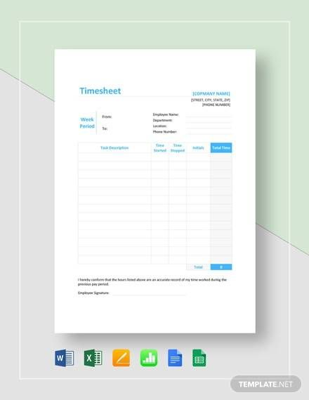 Amp Pinterest In Action Timesheet Template Business Template Word Doc