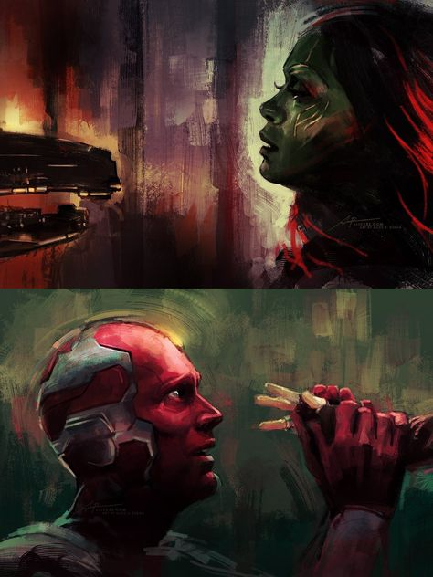 Infinity War fan art by Alice X. Zhang