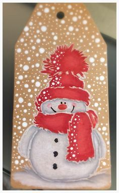 Penny Black Christmas Cards with Snowman Christmas Rock, Christmas Gift Tags, Christmas Signs, Christmas Snowman, Christmas Decorations, Christmas Ornaments, Christmas Canvas, Christmas Drawing, Christmas Paintings