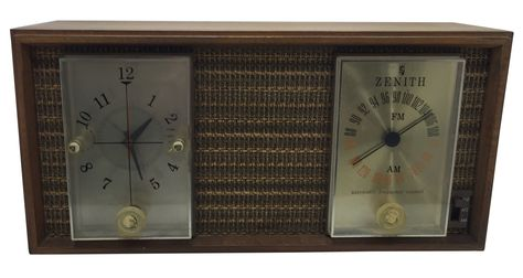 Vintage Zenith Am Fm Clock Radio Clock Retro Clock Desk Clock