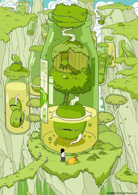 逃避型人格【十】|插画|创作习作|林遭遇         - 原创作品