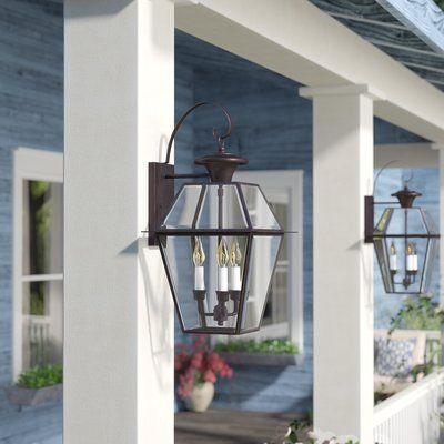 Three Posts Bevin 3 Bulb 22 5 H Outdoor Wall Lantern Wayfair Outdoor Wall Lantern Outdoor Lighting Design Outdoor Walls