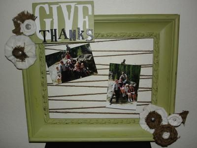 Homemade picture frame.. | do it yourself. | Pinterest | Homemade ...