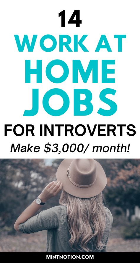 14 jobs for introverts work alone from home