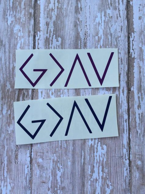 God is greater than the highs and lows decals - pinned by pin4etsy.com