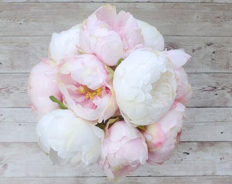 Peonie Bouquet Da Sposa.Peony Bouquet Mazzo Di Peony Avorio Blush Peony Bouquet Bouquet