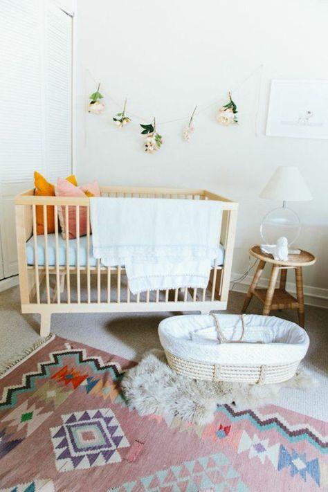 Chambre Bebe Complete, Jolie Chambre Bébé Mixte, Chambre Bebe Avec Lit En  Bois Clair