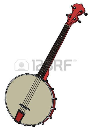 Hand Drawing Of A Classic Red Four Strings Banjo How To Draw Hands Banjo Classic Red