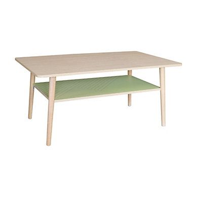 Table Basse Rectangle Floden Parenthese Chene Vert Table Basse