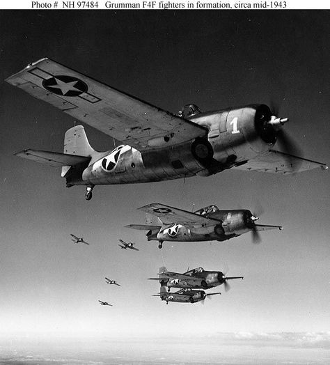 F4F Fighters in Formation - 1943