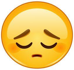 Vector Pensive Emoticon Emojis Para Whatsapp Emojis
