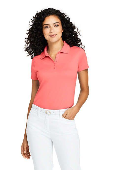 Lands End Womens Supima Cotton Short Sleeve Polo Shirt