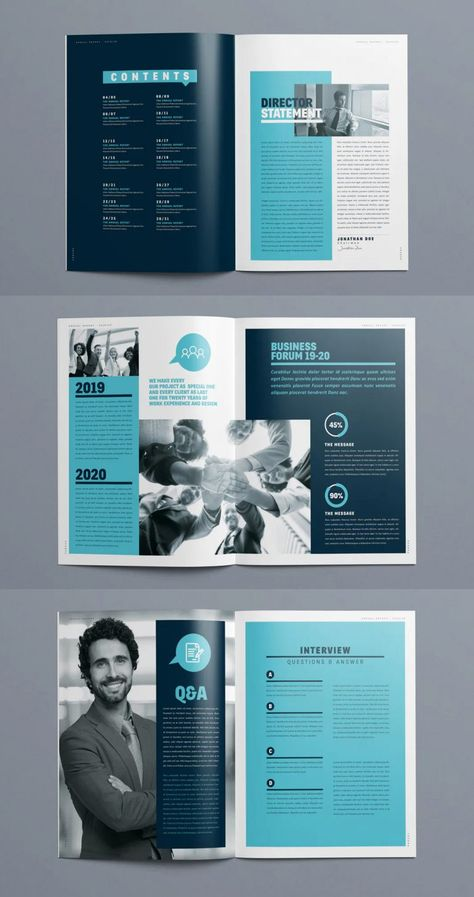 Brochure Design Layouts, Page Layout Design, Corporate Brochure Design, Brochure Design Inspiration, Web Design Trends, Ui Design, Graphic Design, Booklet Layout, Booklet Design