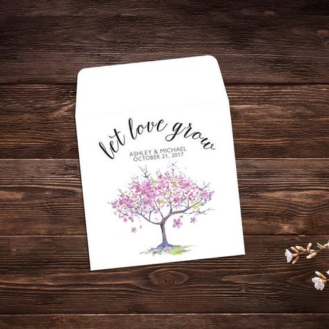 Let Love Grow, Seed Packet Favor, Seed Packet #seedpackets #seedfavors #weddingfavors #weddingseedfavor #weddingseedpackets #wildflowers #seedpacket #seedfavor #seedpacketenvelope #seedpacketfavor #bridalshowerfavor #wildflowerseeds #customweddingfavor