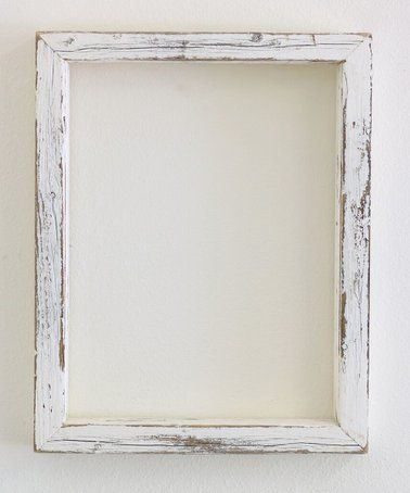 Distressed White Reclaimed Wood Frame Zulily Zulilyfinds Reclaimed Wood Frames Reclaimed Wood Wood Frame