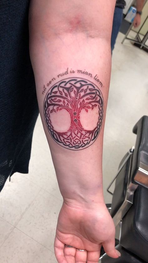 Color Celtic Tree of Life Tattoo