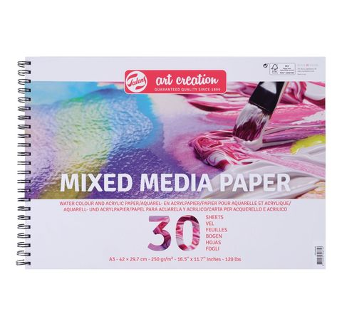 Talens Aquarellpapier Block Mixed Media Paper 30 Blatt Mit