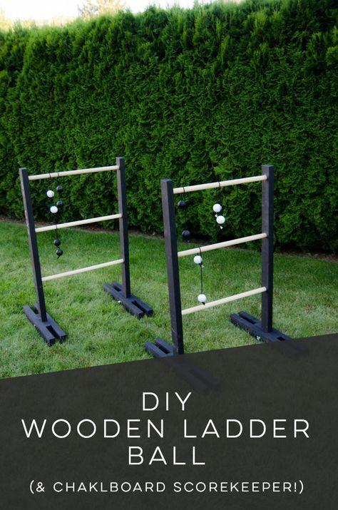 Diy Ladder Ball With Chalkboard Score Keeper Lemon Thistle Ladder Ball Wooden Diy Diy Yard Games