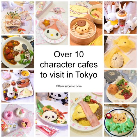 Over 10 Character Cafés to Visit in Japan || Little Miss Bento- defo my little pony for pancakes with rainbow ice cream!