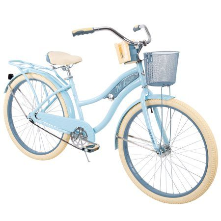 Huffy 26 Nel Lusso Women S Classic Cruiser Bike With Perfect Fit Frame Light Blue Walmart Com Cruiser Bike Beach Cruiser Bike Comfort Bicycle
