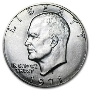 Choice BU 1971-S Eisenhower Dollar 40/% Silver