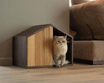 Modern Cat Bed Etsy Modern Cat Bed Pet Furniture Modern Cat